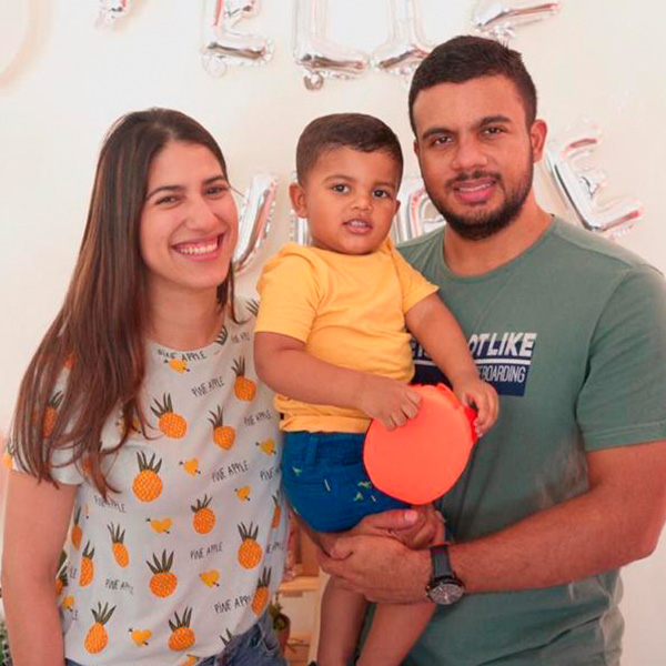 Daniel, Helen, Juan Daniel & baby Bravo
